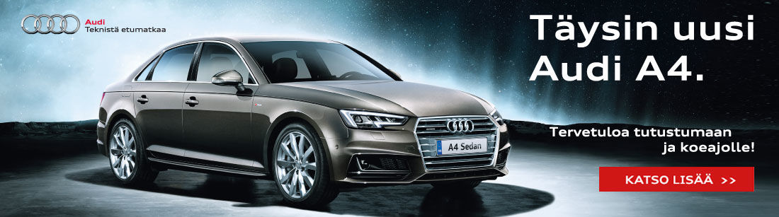 Tervetuloa koeajamaan uusi Audi A4