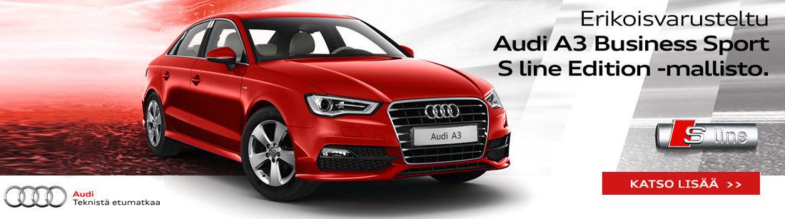 Erikoisvarusteltu Audi A3 Business Sport S line Edition