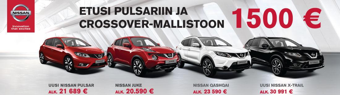 1500 € etu uuden Nissan Pulsar ja crossover -mallin ostajalle