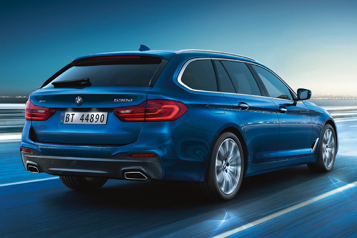 Vaihda nykyinen autosi Business-luokkaan. Valitse BMW 5-sarjan Touring.