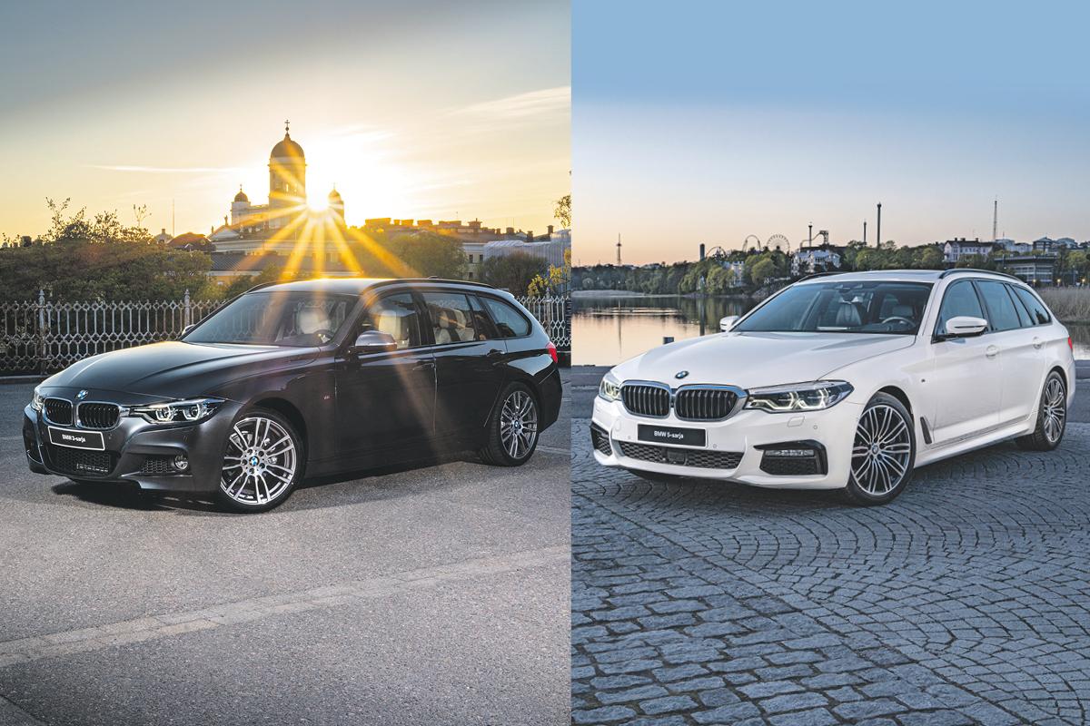 Erikoiserä BMW 3- ja 5-sarjan autoja valmiina ajoon!