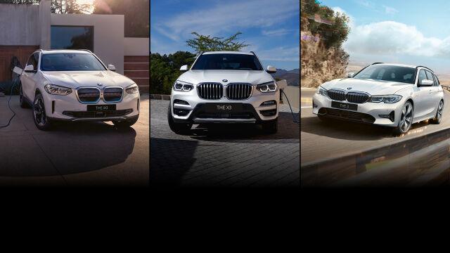 Erä sähköistettyjä BMW-malleja huippueduin.