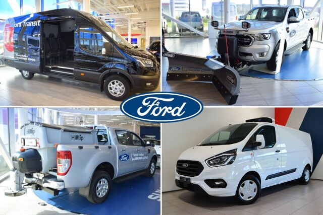 Ford hyötyajoneuvot muuntuu moneksi.