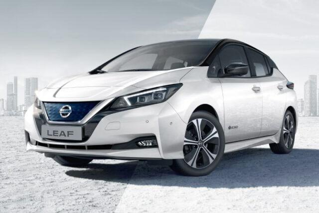 Erikoiserä hyvin varusteltuja Nissan Leaf -sähköautoja 26.900 €
