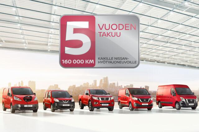 Nissanin monipuolinen hyötyajoneuvomallisto kaikkiin tarpeisiin.