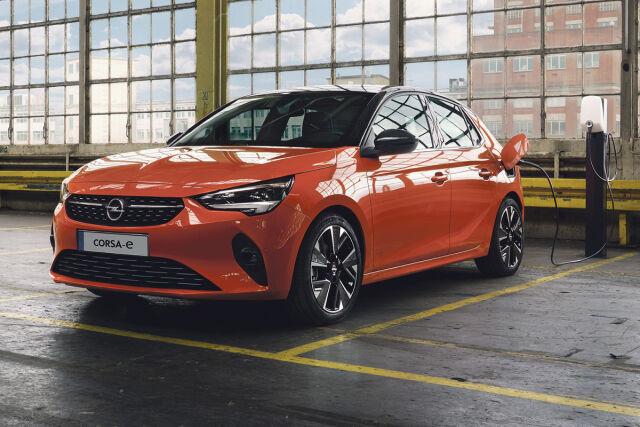 Uusi 100 % sähköinen Opel Corsa-e Laakkoselta.