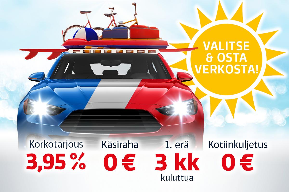 Valitse kesäksi uusi menopeli Laakkosen vaihtoautovalikoimasta huippueduin!