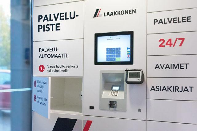 Huollon palveluautomaatti myös Herttoniemen Laakkosen ŠKODA-liikkeessä.