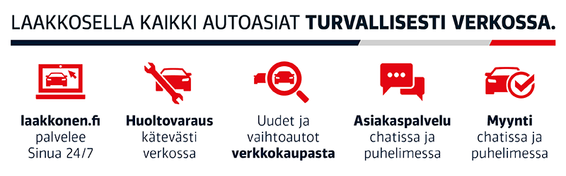 Laakkosella kaikki autoasiat turvallisesti verkossa